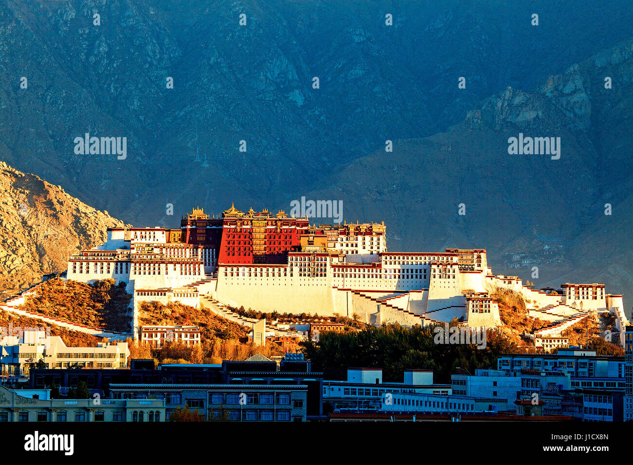 Potala Palace in Tibet - Stock Image