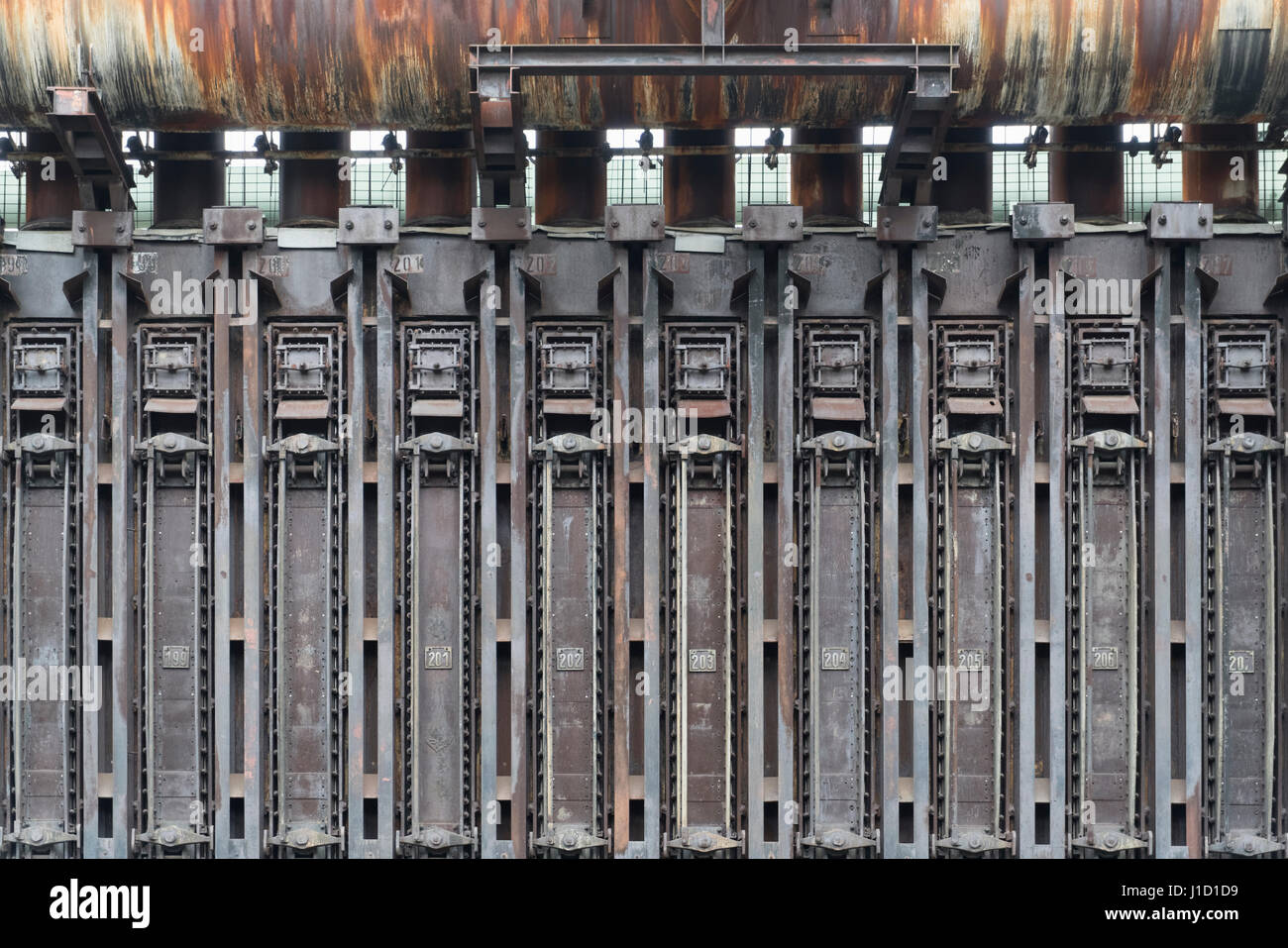 This coke oven battery belongs as an industrial monument to the UNESCO World Heritage Site Zollverein in Essen, - Stock Image