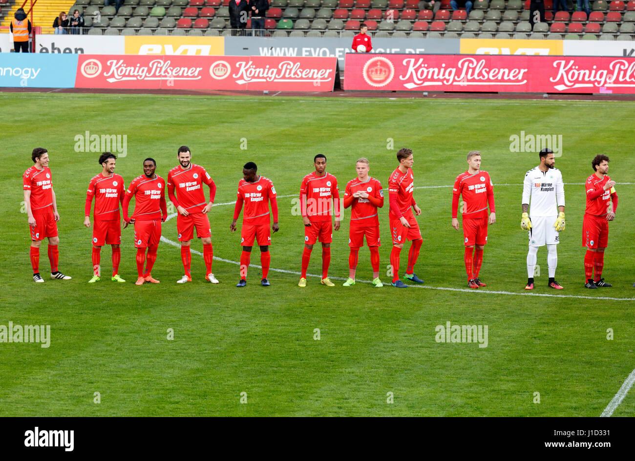 sports, football, Regional League West, 2016/2017, Rot Weiss Oberhausen vs BVB Borussia Dortmund U23 0:0, Stadium - Stock Image