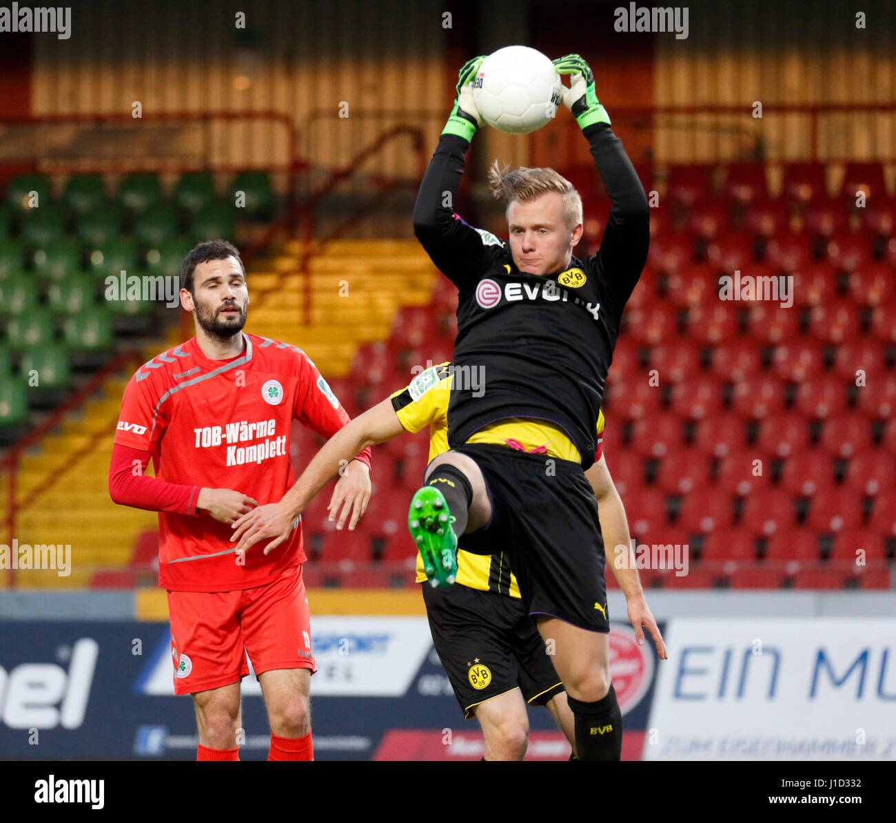 sports, football, Regional League West, 2016/2017, Rot Weiss Oberhausen vs BVB Borussia Dortmund U23 0:0, Stadium - Stock Image