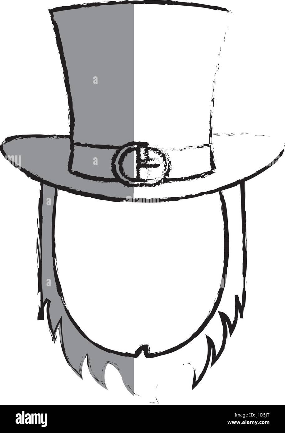 9df85110e4f Irish elf hat with beard isolated icon - Stock Vector