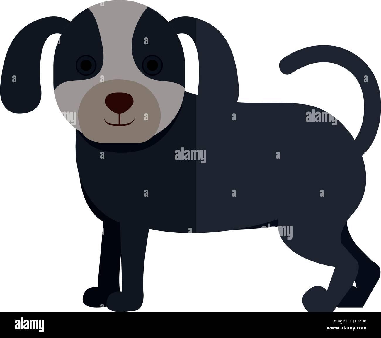cute dog pet icon - Stock Image