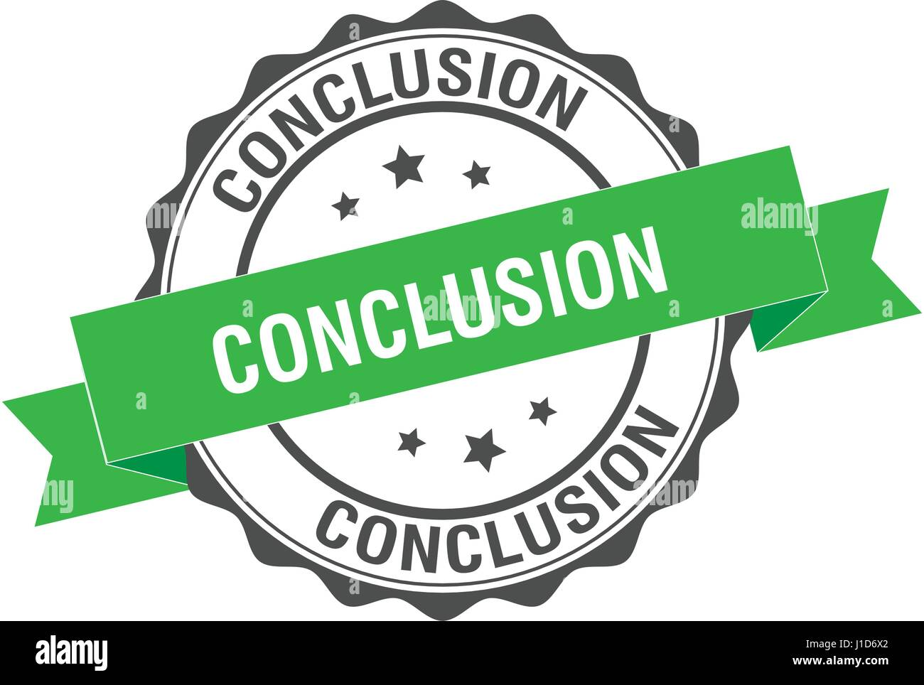 Conclusion stamp illustration - Stock Image