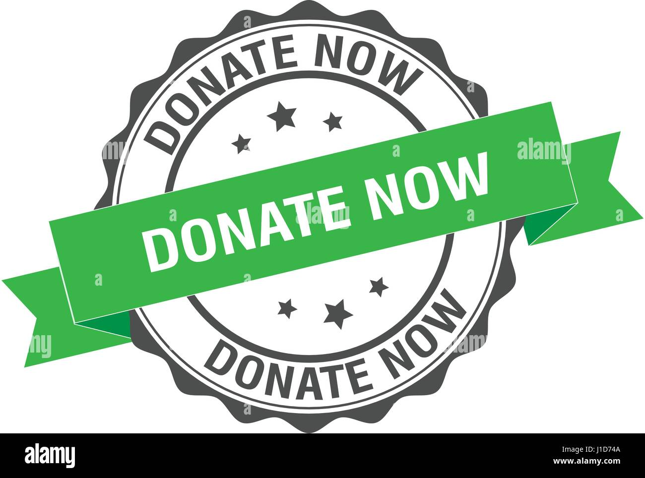 Donate now stamp illustration - Stock Image
