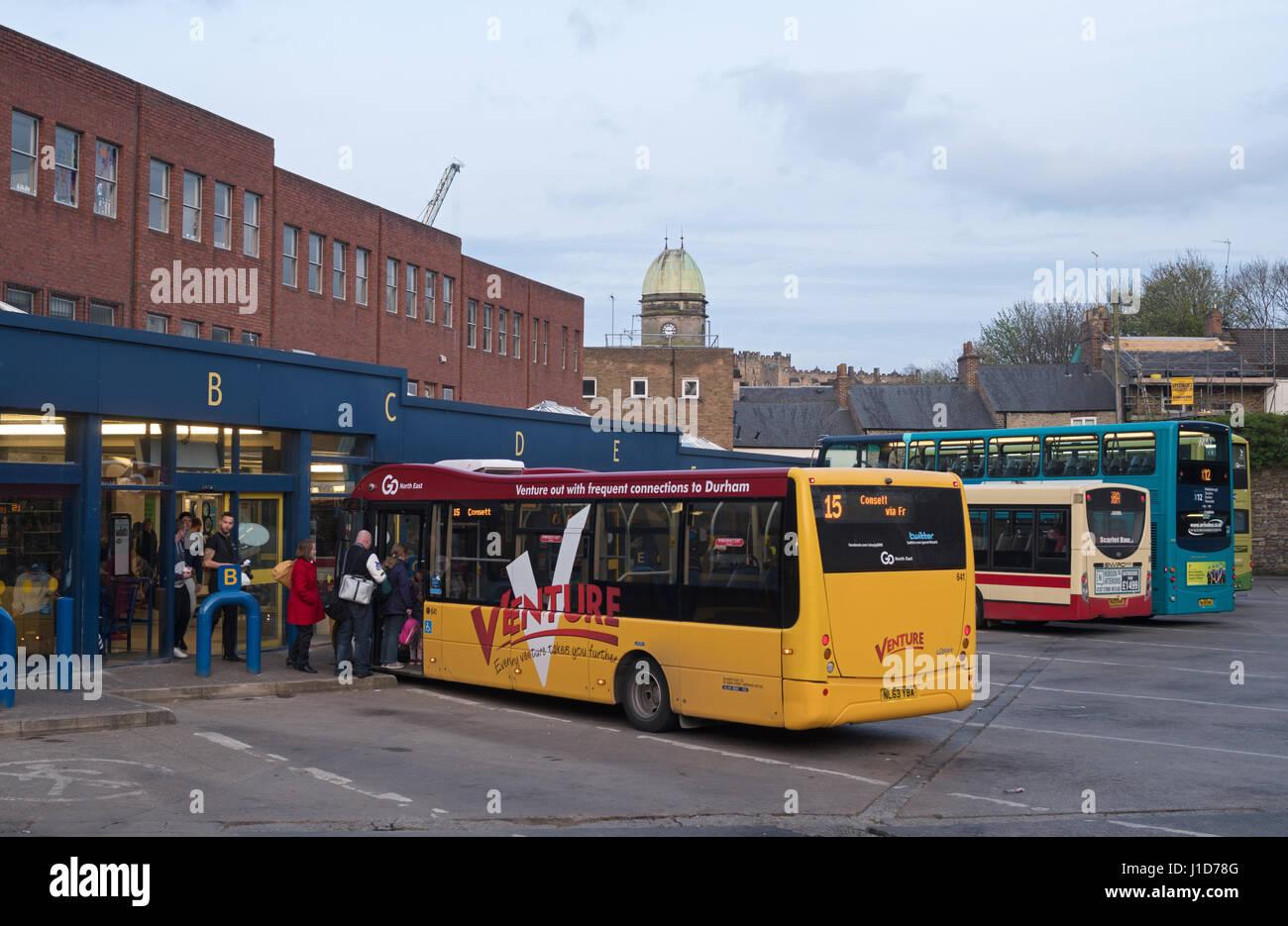 Durham City Bus Station Co Durham England Uk Stock Photo