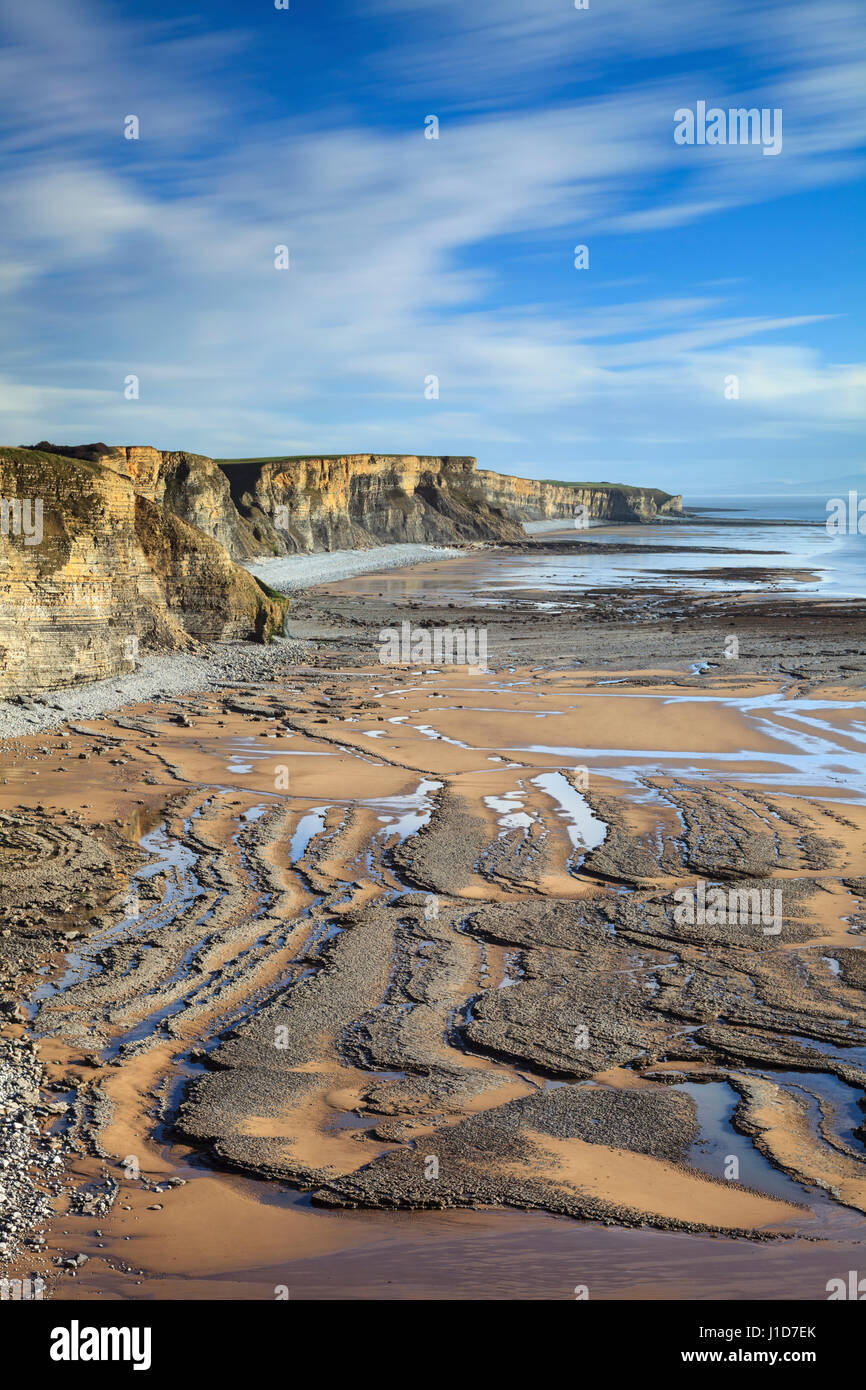 The Glamorgan Heritage Coast in South Wales - Stock Image