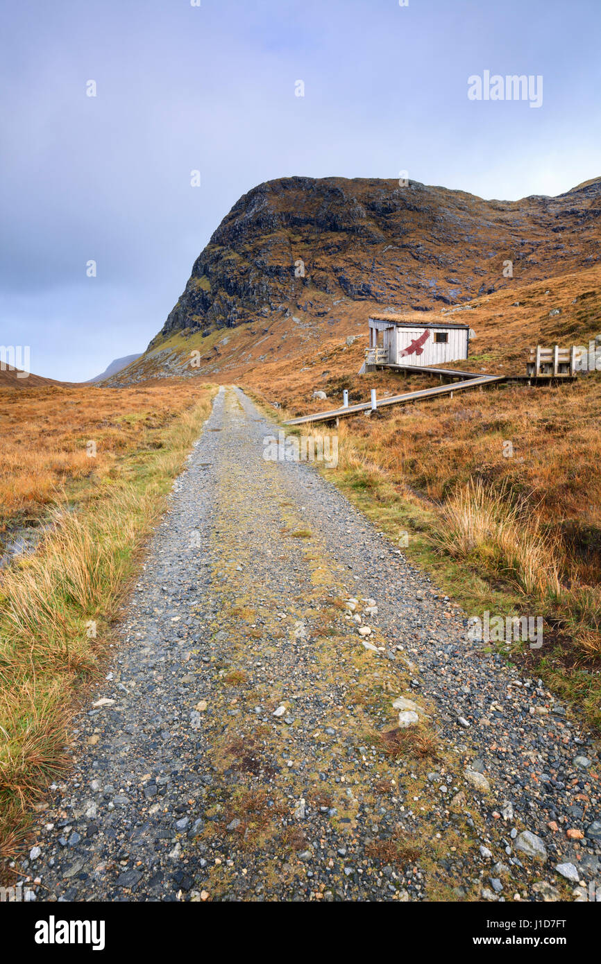 On image captured on the walk to the Golden Eagle Observatory on North Harris. - Stock Image