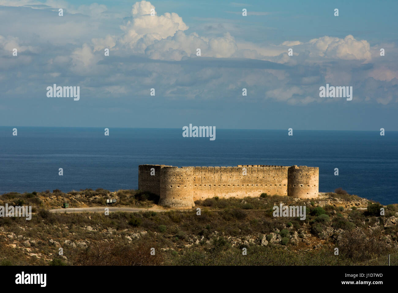 Aptera was an ancient city in western Crete built from the 7th century BC which was destroyed in 824 AC and is nowadays Stock Photo