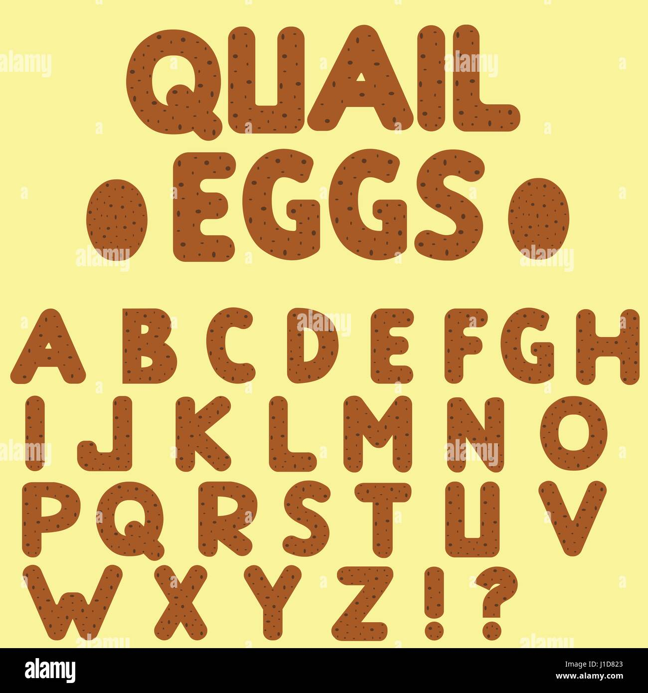 Quail eggs letters - Stock Vector