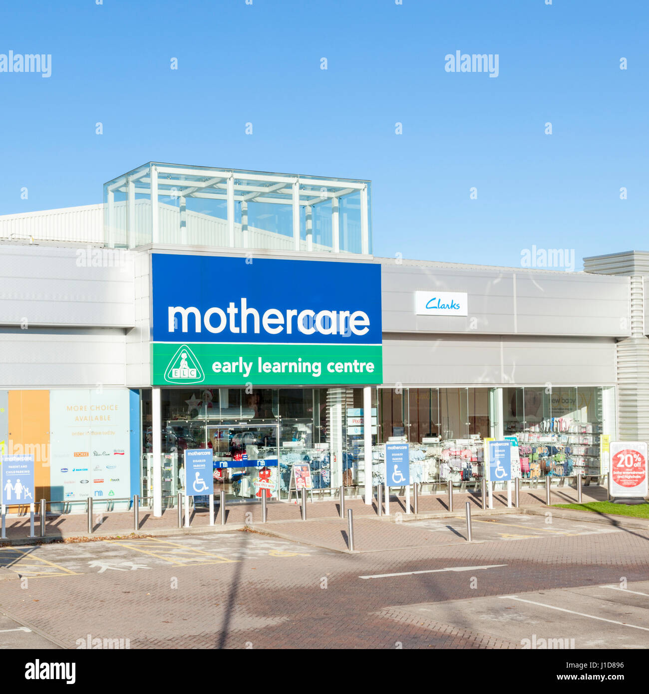Mothercare and Early Learning Centre stores, Castle Marina Retail Park, Nottingham, England, UK - Stock Image