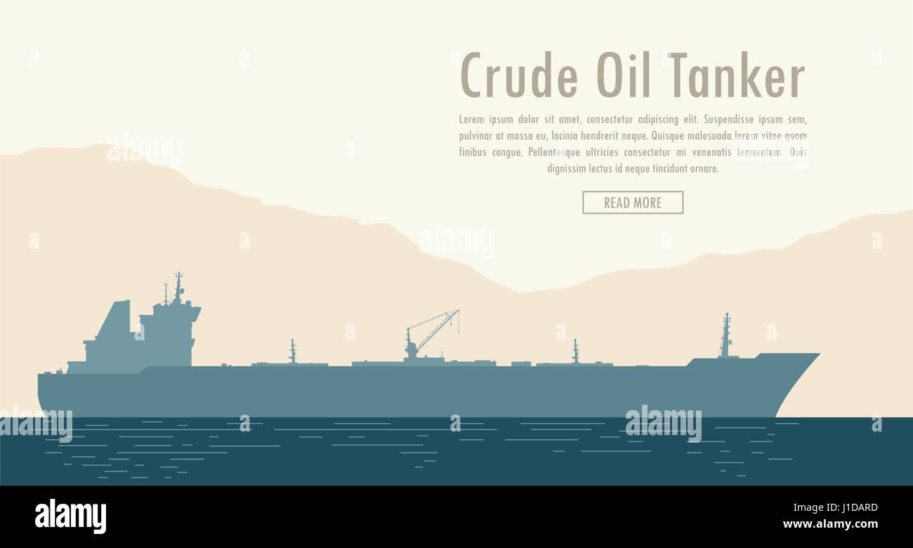 Oil tanker. Vector illustration - Stock Vector