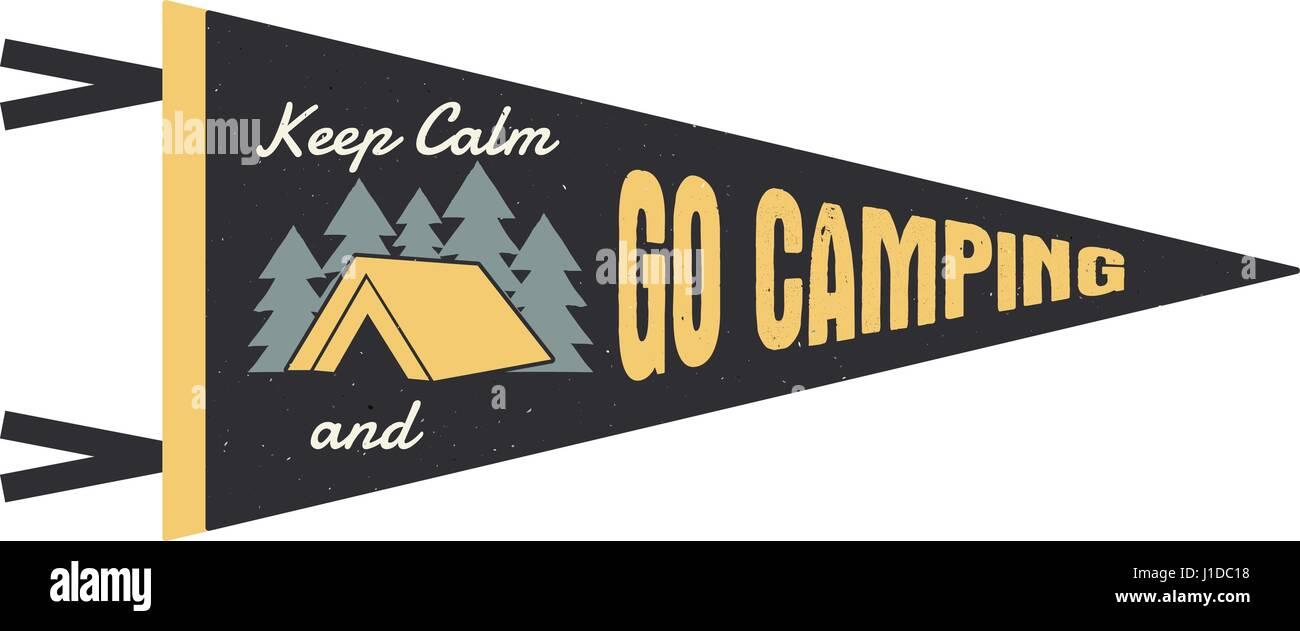Go Style Template | Adventure Pennant Go Camping Pennant Explorer Flag Design Vintage