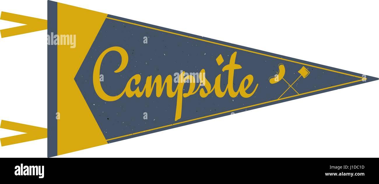 Adventure pennant  Campsite Pennant  Explorer flag design