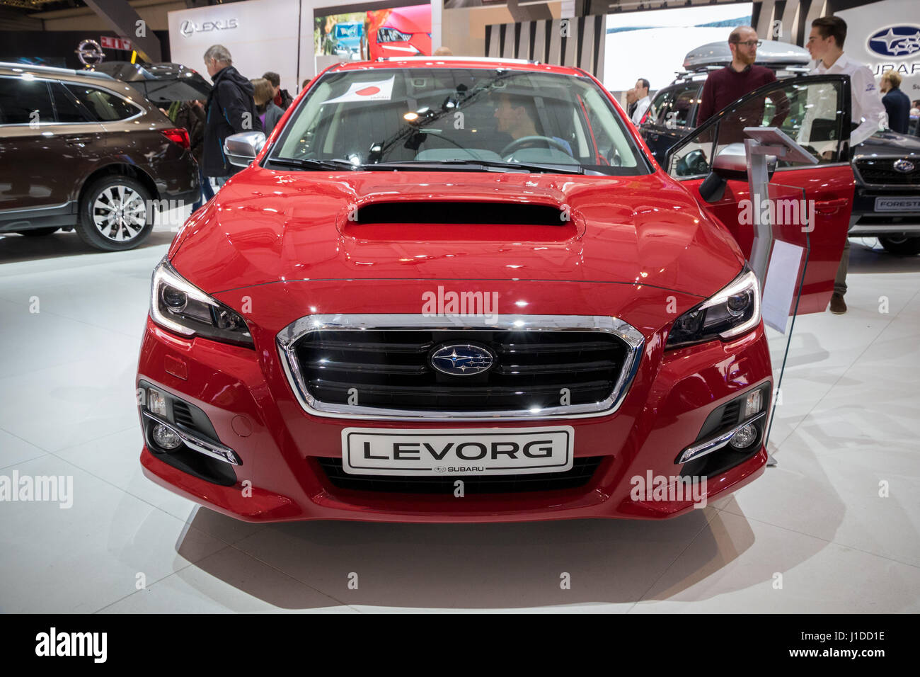 BRUSSELS - JAN 19, 2017: Subaru Levorg car at the Brussels Auto Salon. - Stock Image