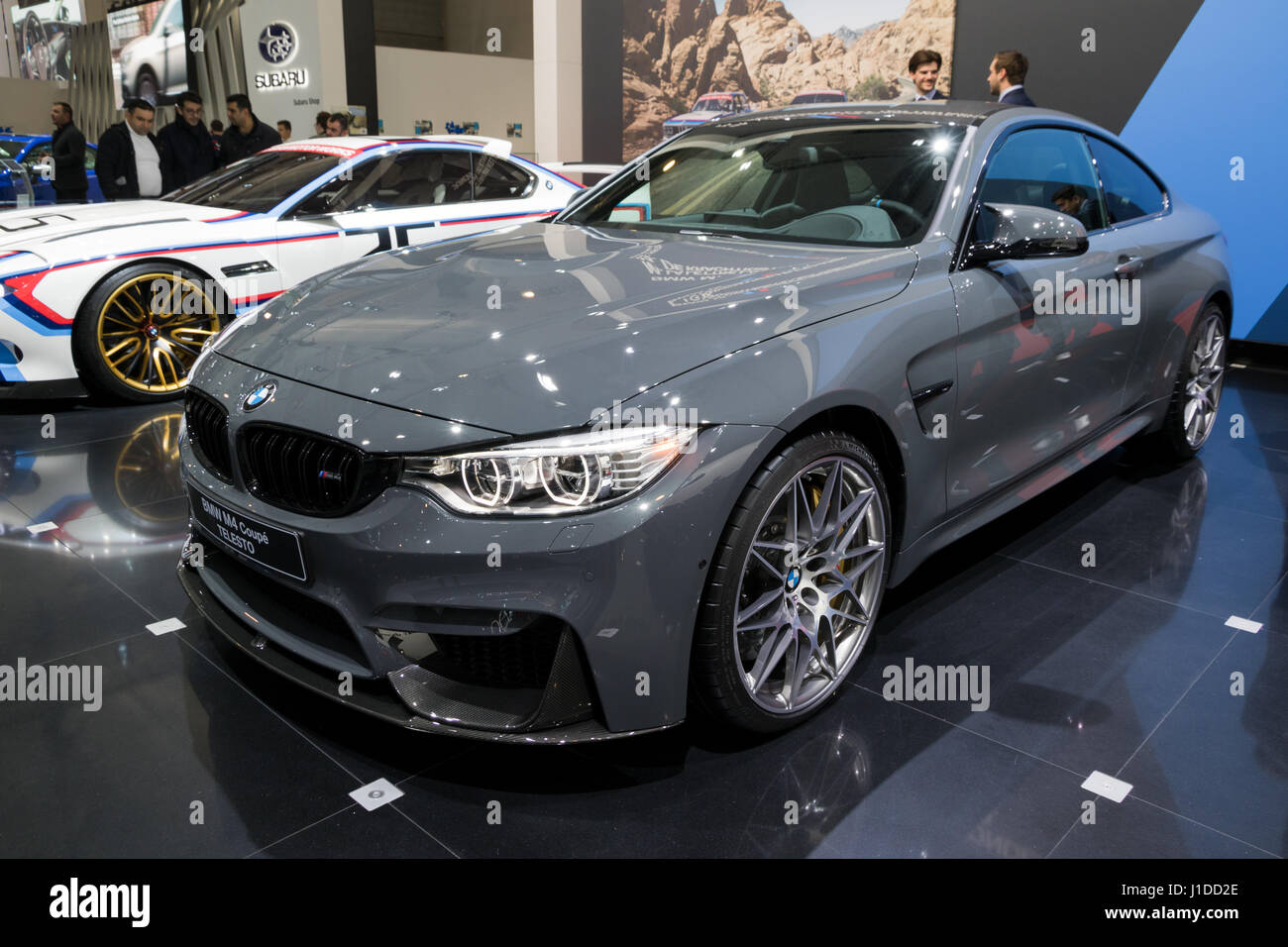 Brussels Jan 19 2017 Bmw M4 Coupe Telesto Car At The Brussels