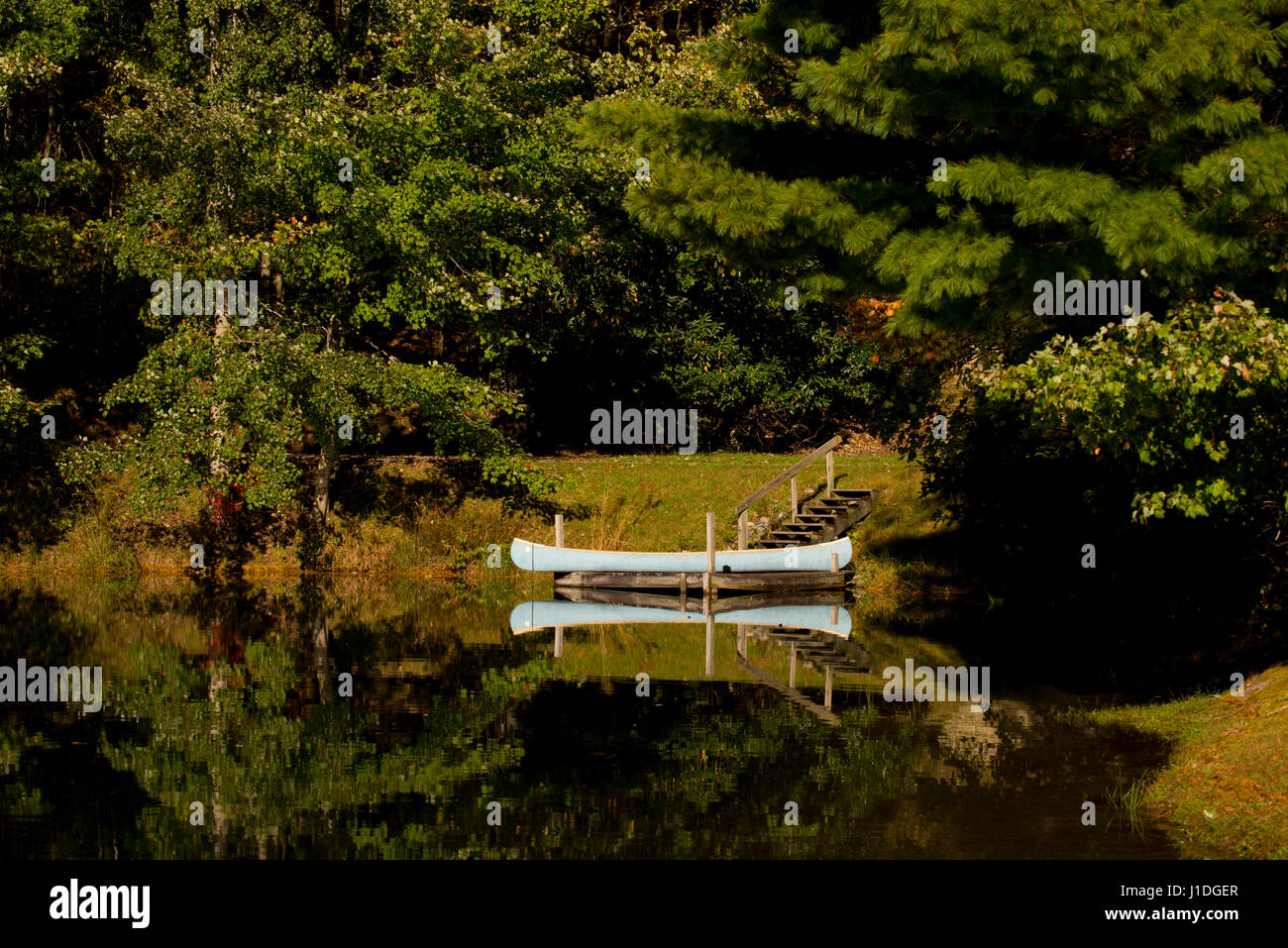 smoky mountains North Carolina lakes autumn Stock Photo