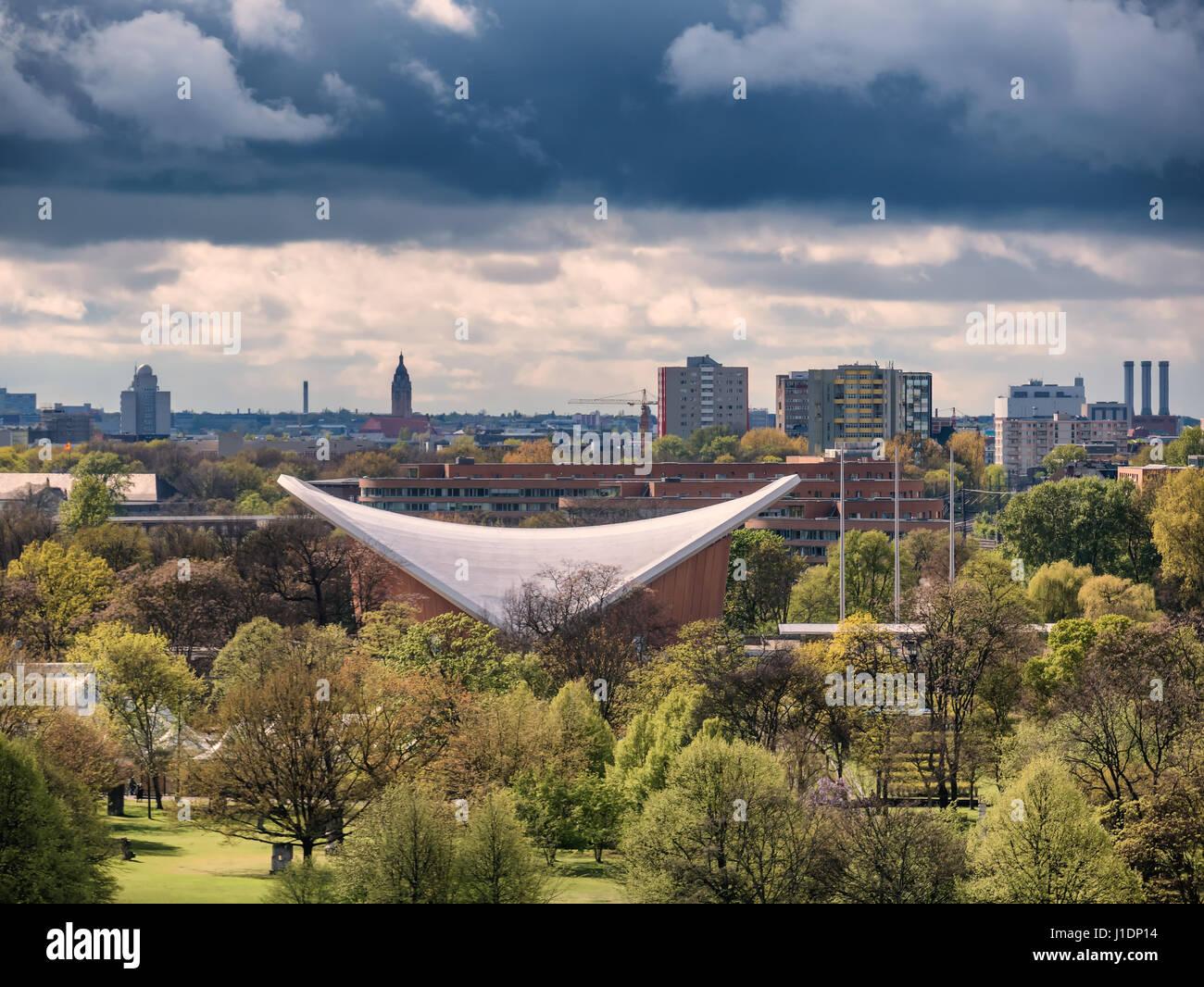 Haus der kulturen in Tiergarten Berlin, Germany - Stock Image
