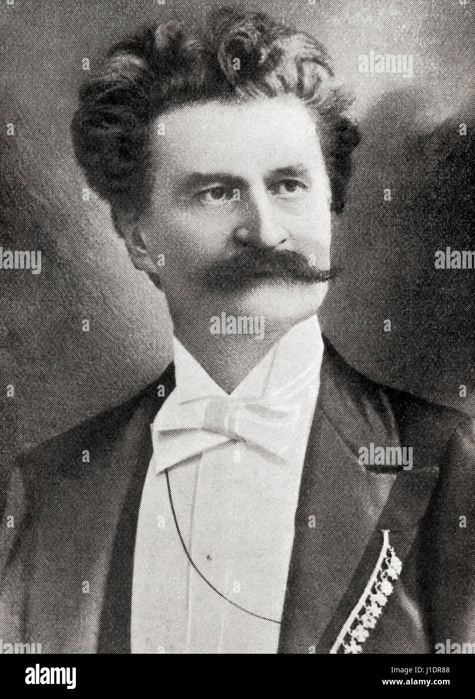 Johann Strauss II, 1825 – 1899, aka Johann Strauss Jr., the Younger and Johann Baptist Strauss. Austrian composer. Stock Photo