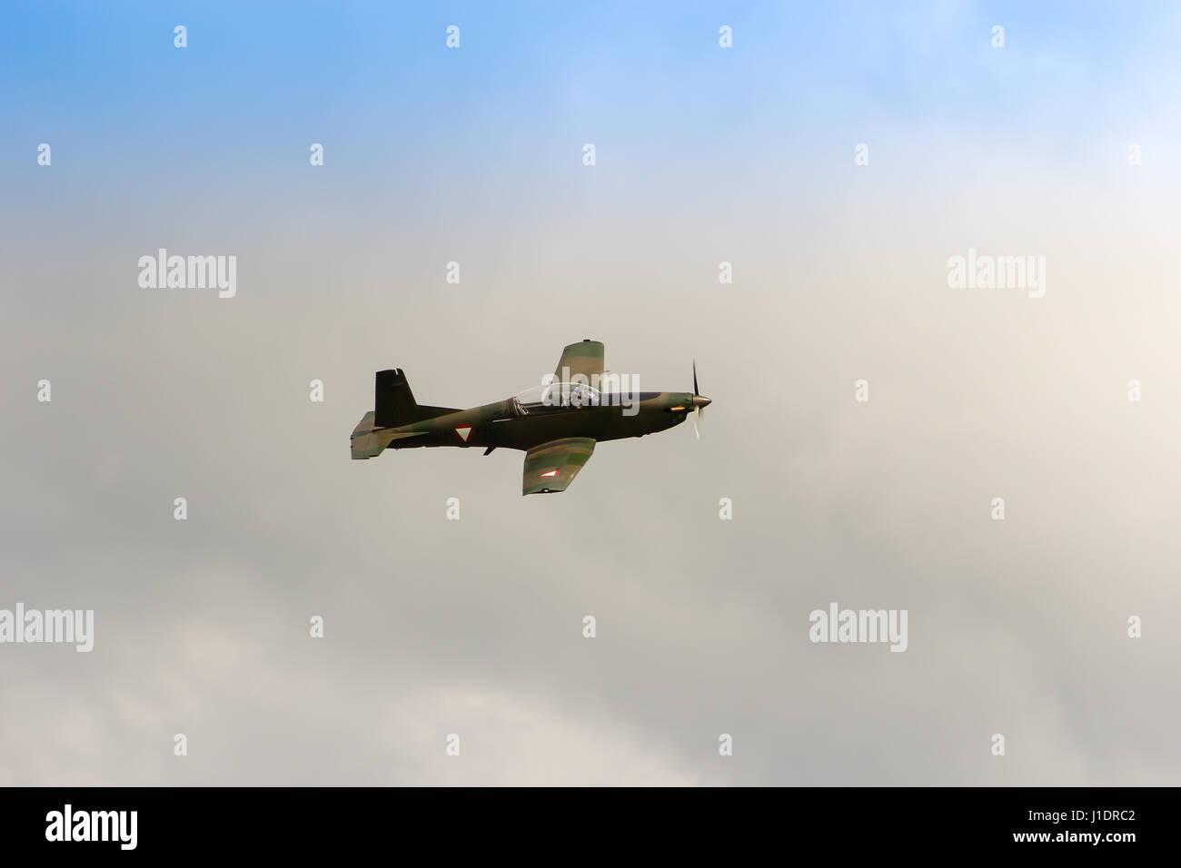 Pilatus PC 7, Turbo Trainer, - Stock Image