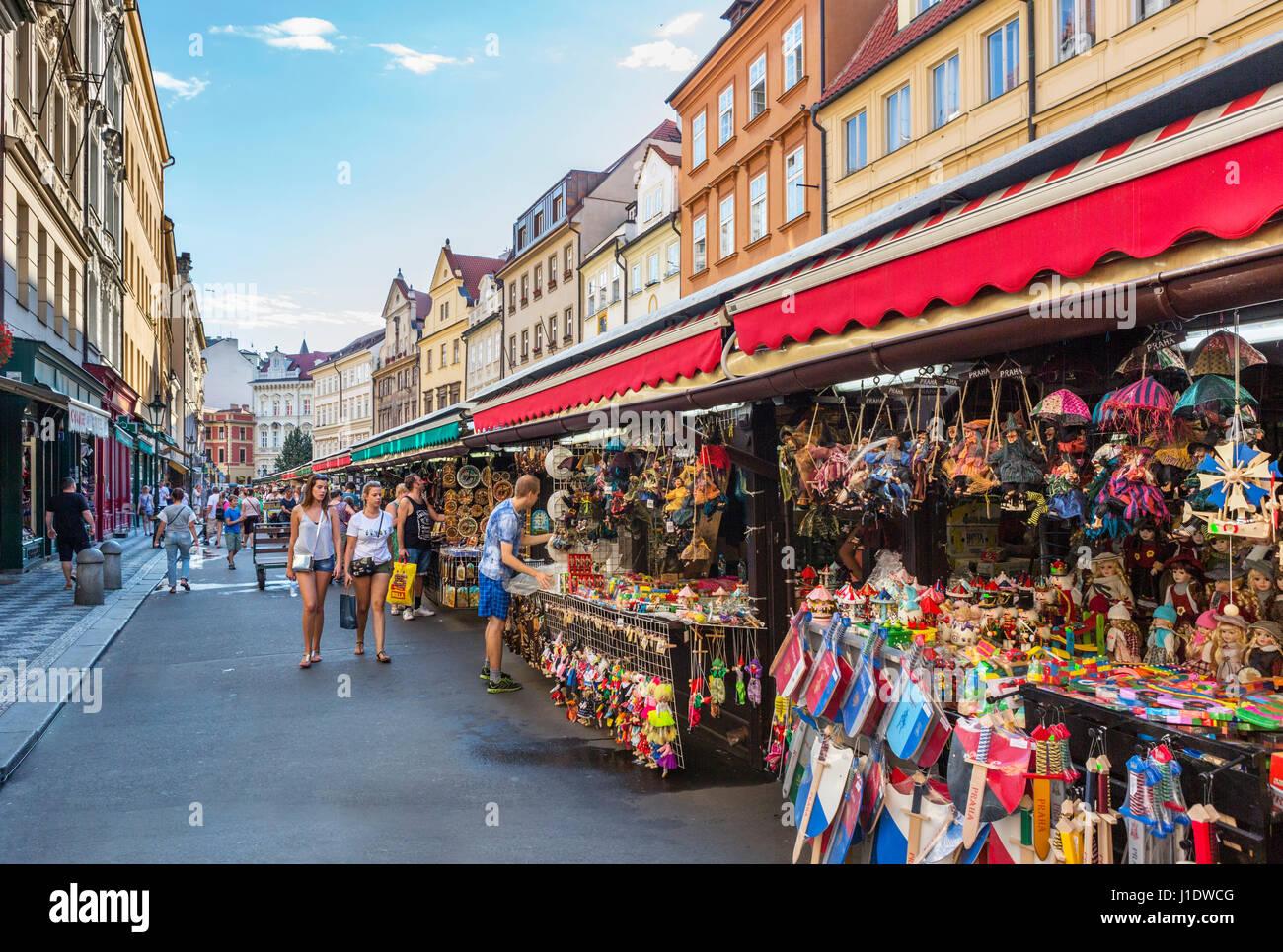 Havelska Market (Havelske trziste), Prague, Czech Republic - Stock Image