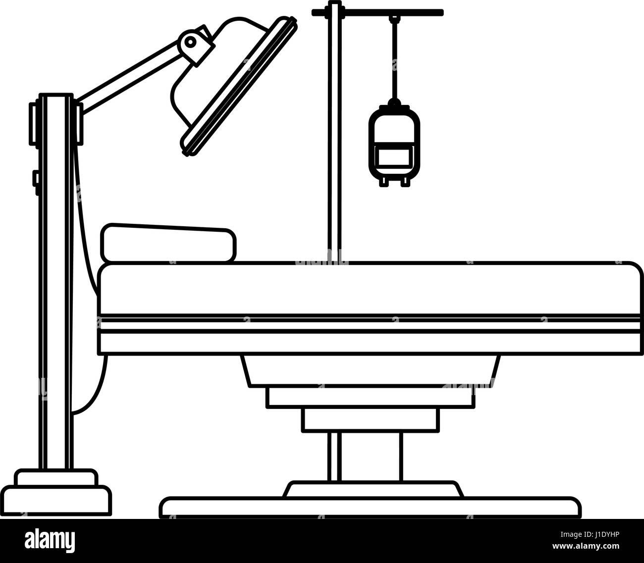 Gurney Or Hospital Bed Icon Image