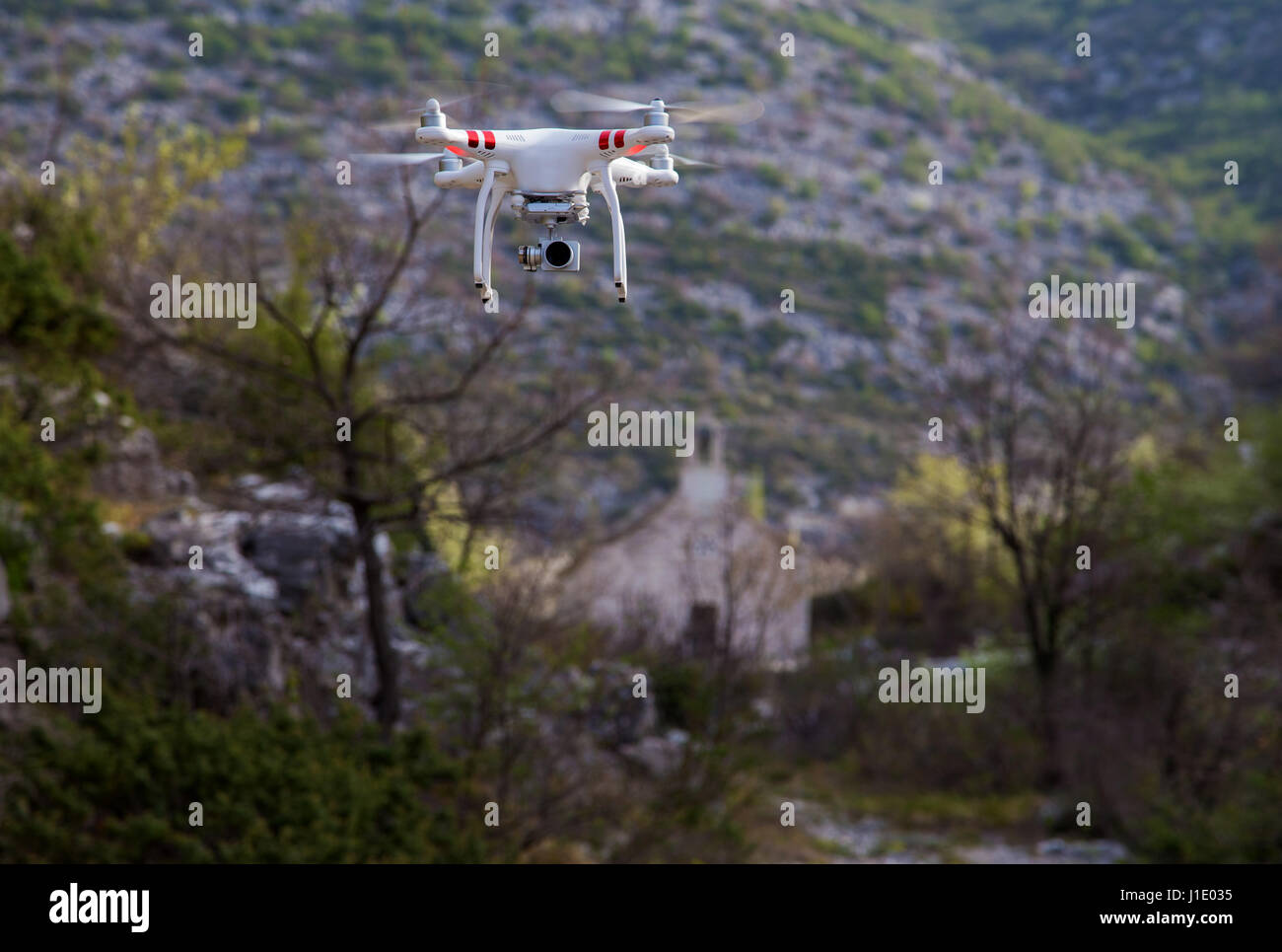 Drone in action - Stock Image
