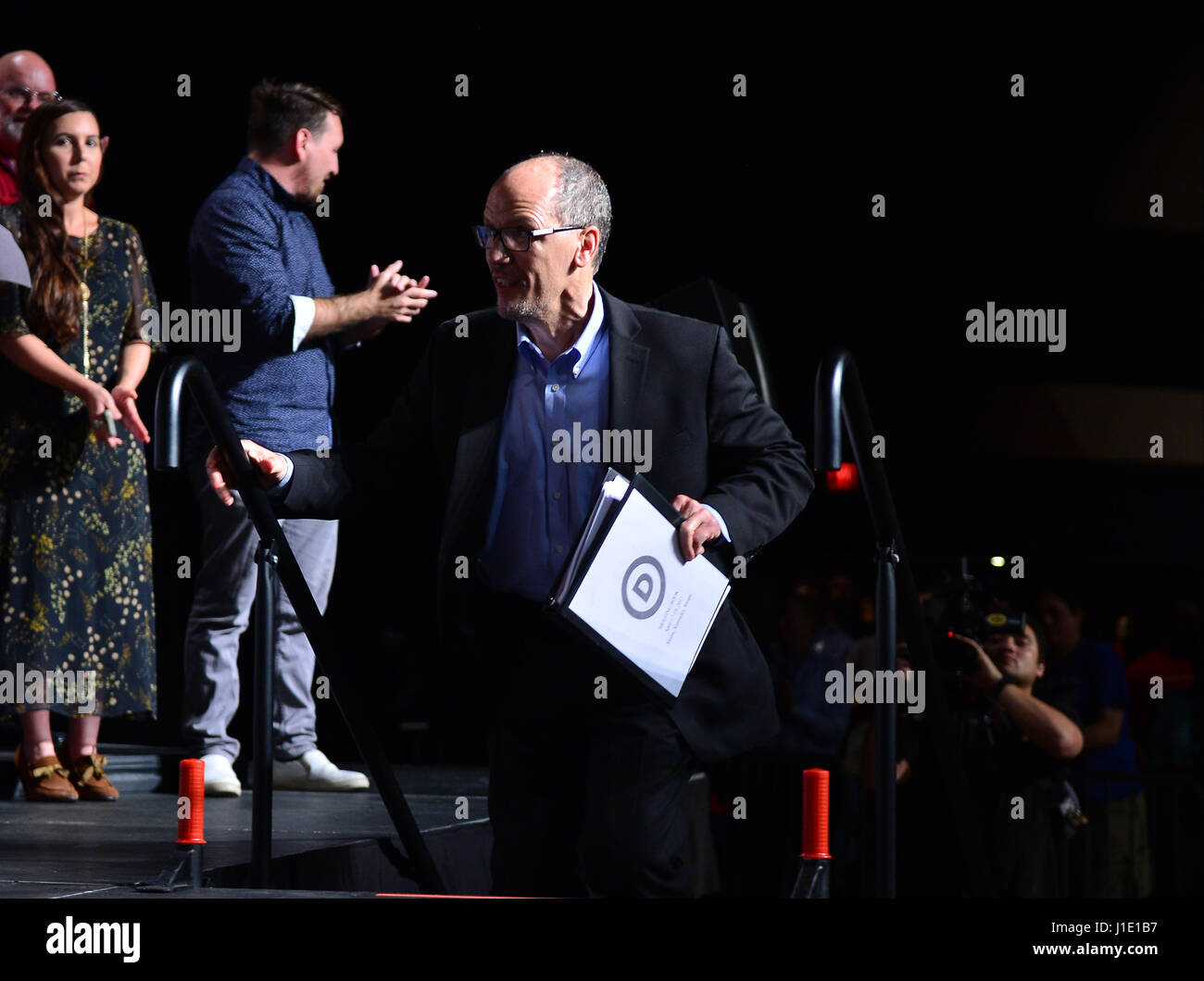 Miami, Florida, USA. 19th Apr, 2017. DNC Chair Tom Perez ...