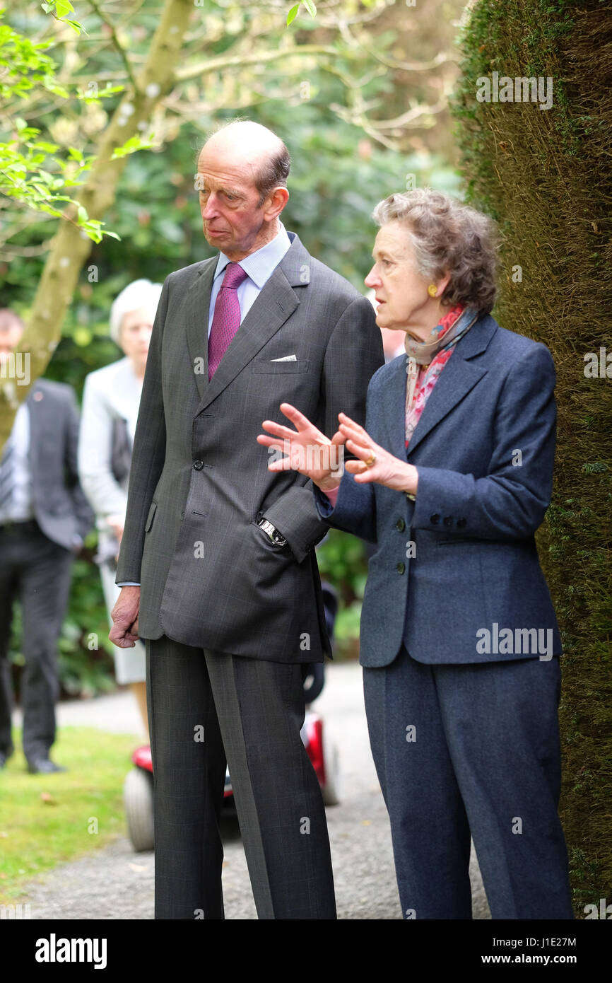 HRH Duke of Kent now aged 81 years visits the extensive gardens at Hergest Croft in Kington Herefordshire  UK. 20th - Stock Image