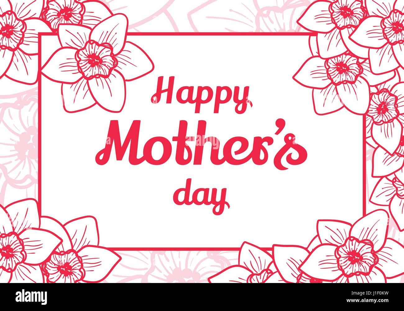 happy mothers day vector design element greeting card template