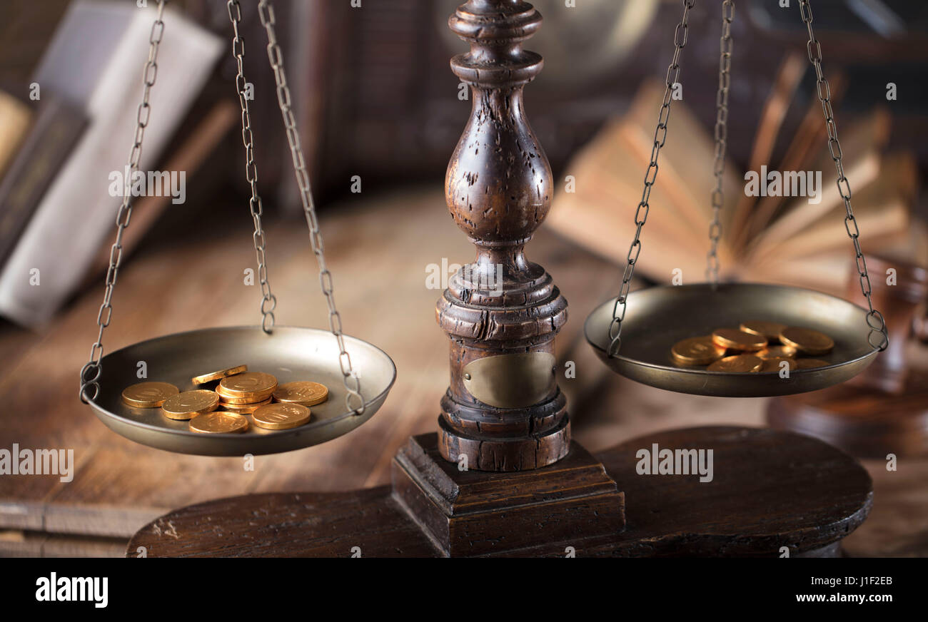Law concept. Paragraph and jugde. Punishment. Lawyers office. Judge.  Lawyers office. Mallet of the jugde. Scale - Stock Image