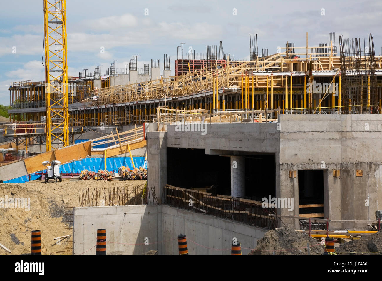 Unfinished sports stadium complex site - Stock Image