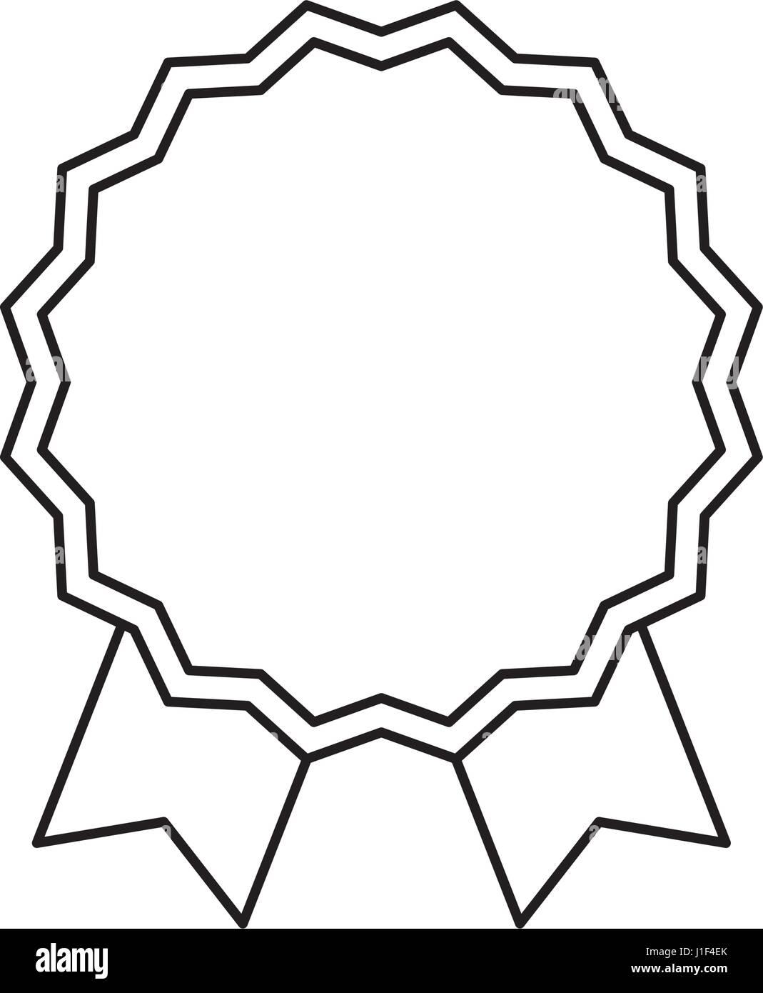 emblem badge ribbon Stock Vector Art & Illustration, Vector