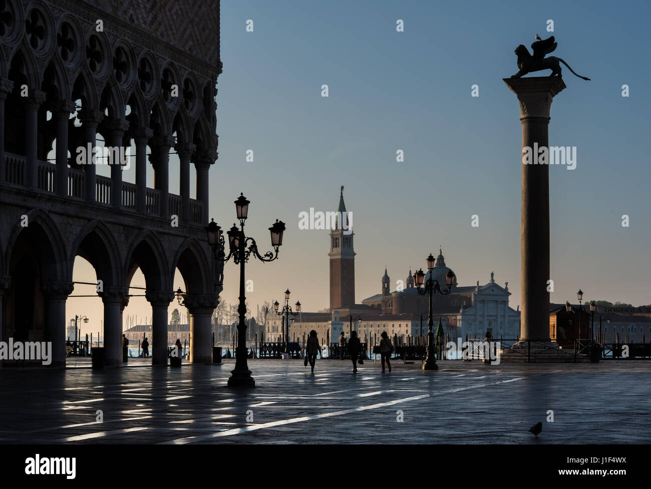 St Marks Square at dawn, Venice Stock Photo