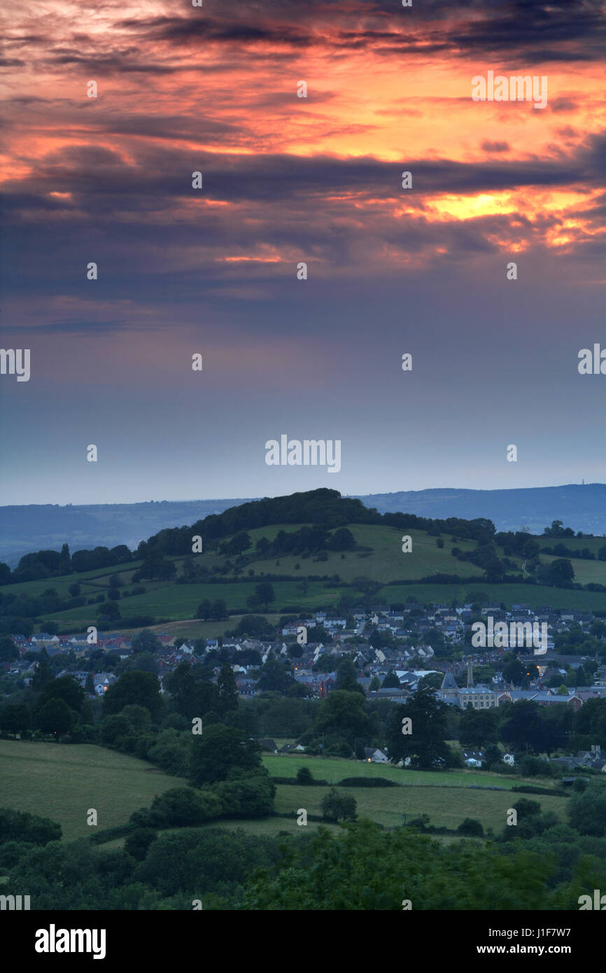 Stroud Gloucestershire UK at dusk Stock Photo