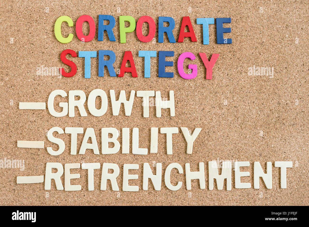 words corporate strategy growth stability retrenchment on