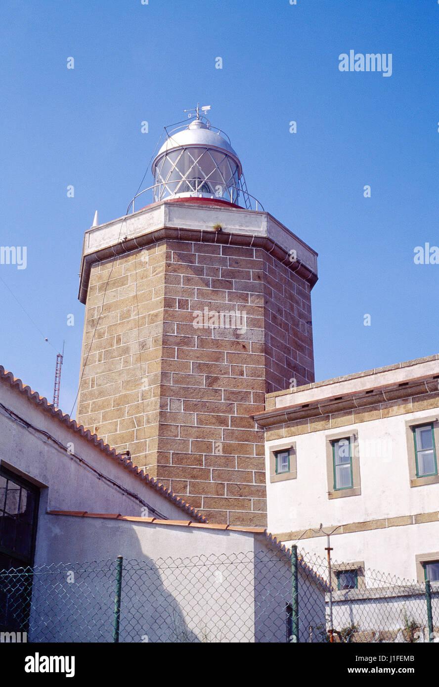 Lighthouse. Finisterre, La Coruña province, Galicia, Spain. - Stock Image