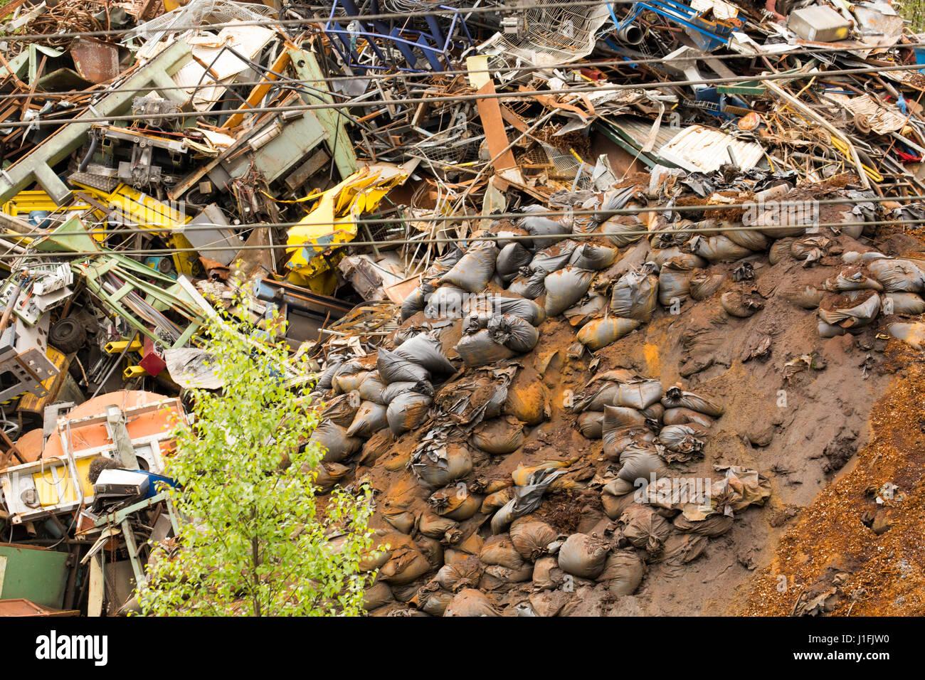 Metal Scrap Yard - Stock Image