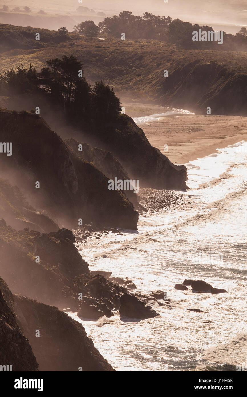 Ragged Point at bottom of Big Sur Coast, California - Stock Image