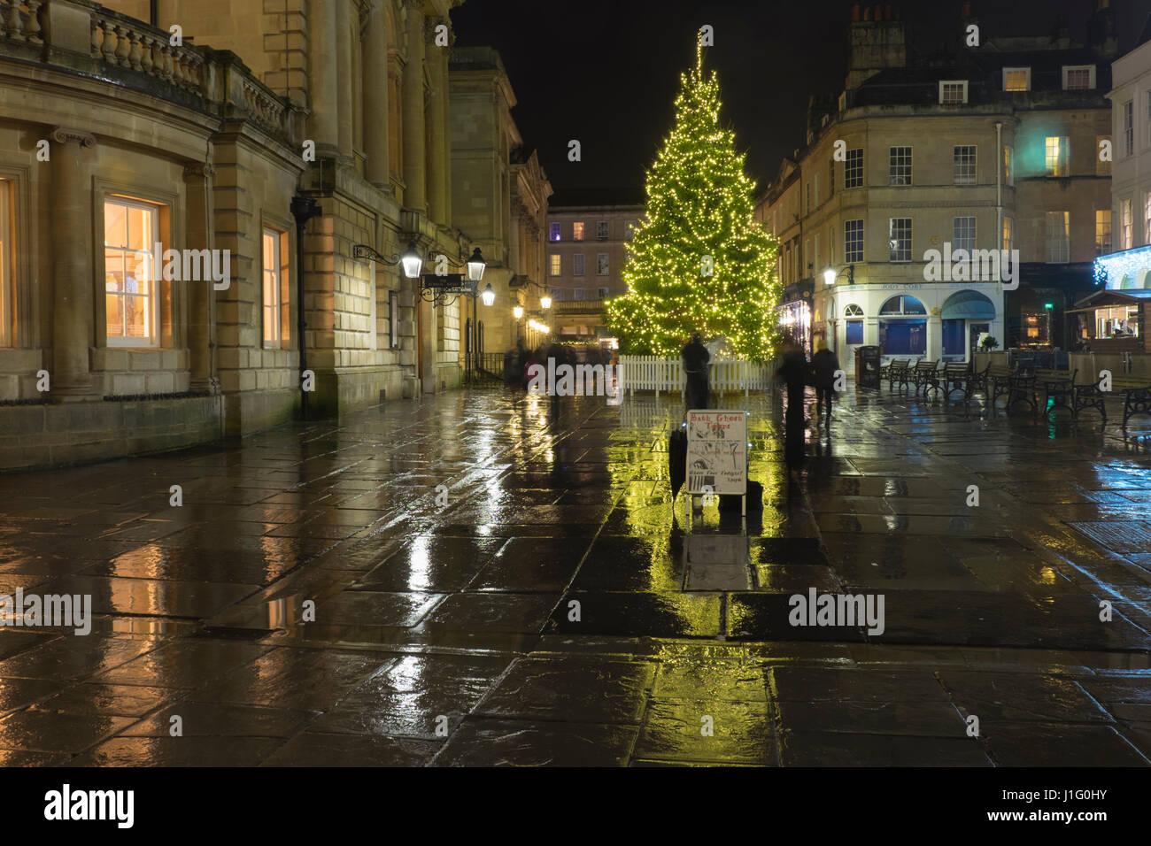 Christmas lights in Bath,southern England - Stock Image