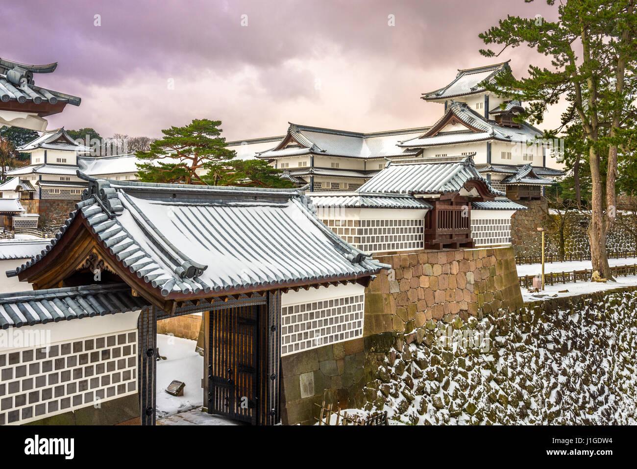 Kanazawa Castle, Japan. - Stock Image