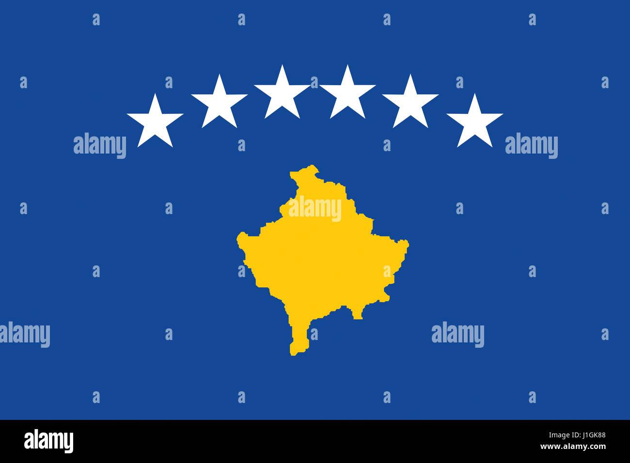 Illustration of the national flag of Kosovo Stock Photo