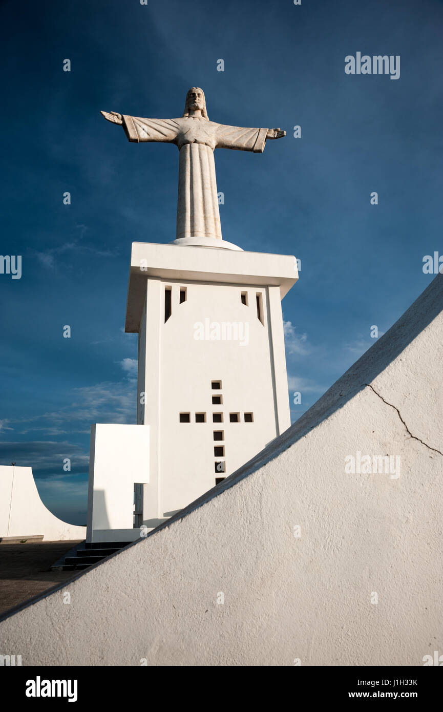 The Christ the King statue (Cristo Rei) in Lubango, Angola was built in 1957 - Stock Image