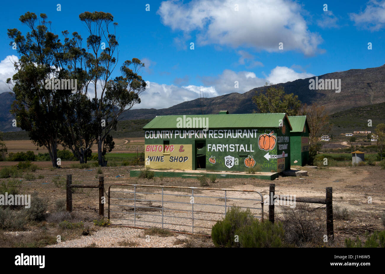 Farm shop on garden route, near Barrydale, western cape, South Africa - Stock Image