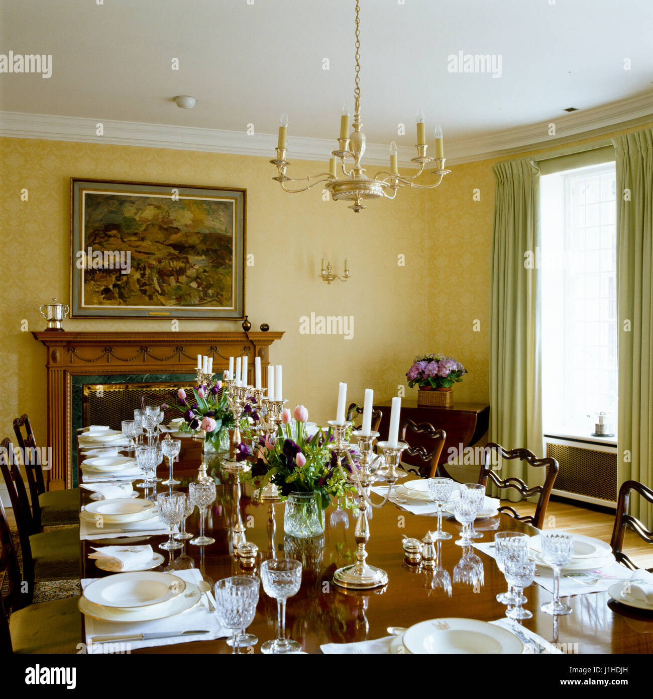 Edwardian Dining Room With Set Table