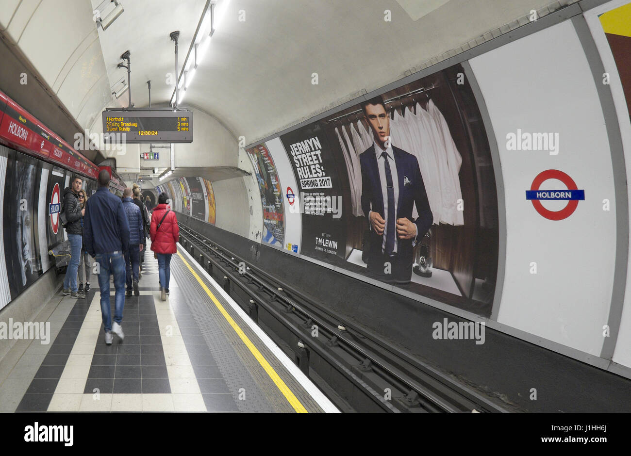holborn tube station london - Stock Image