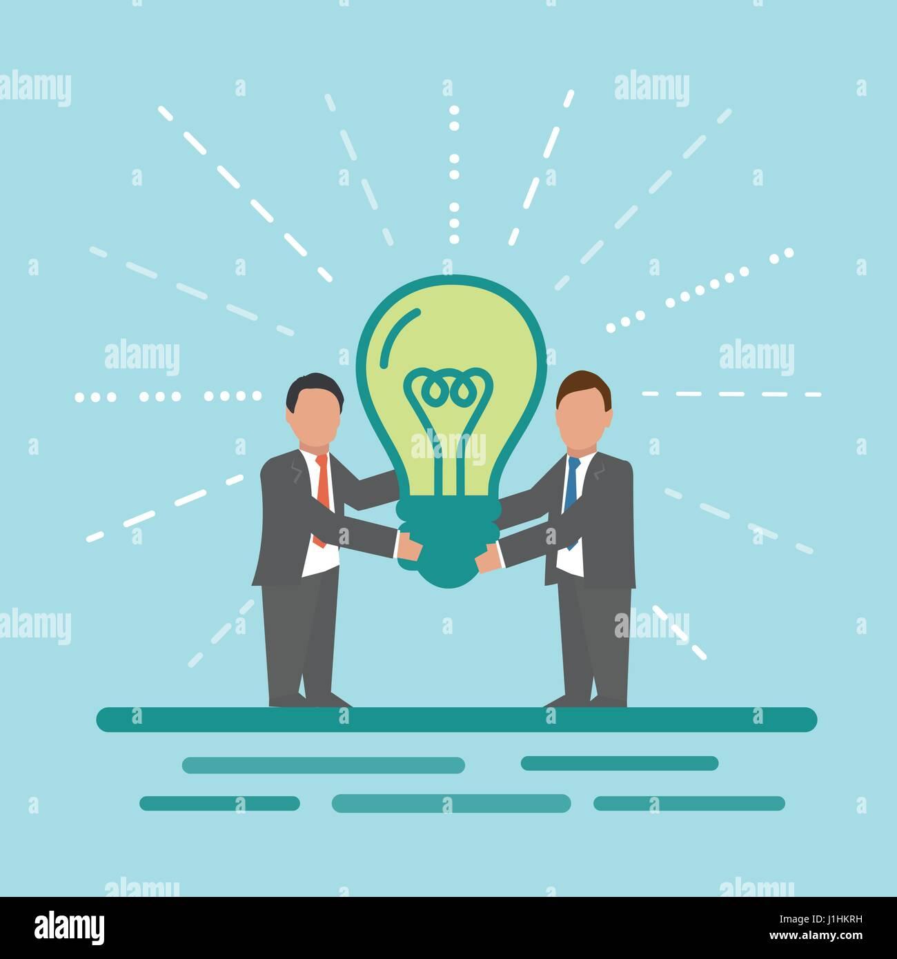 Idea. Concept business illustration. Stock Vector