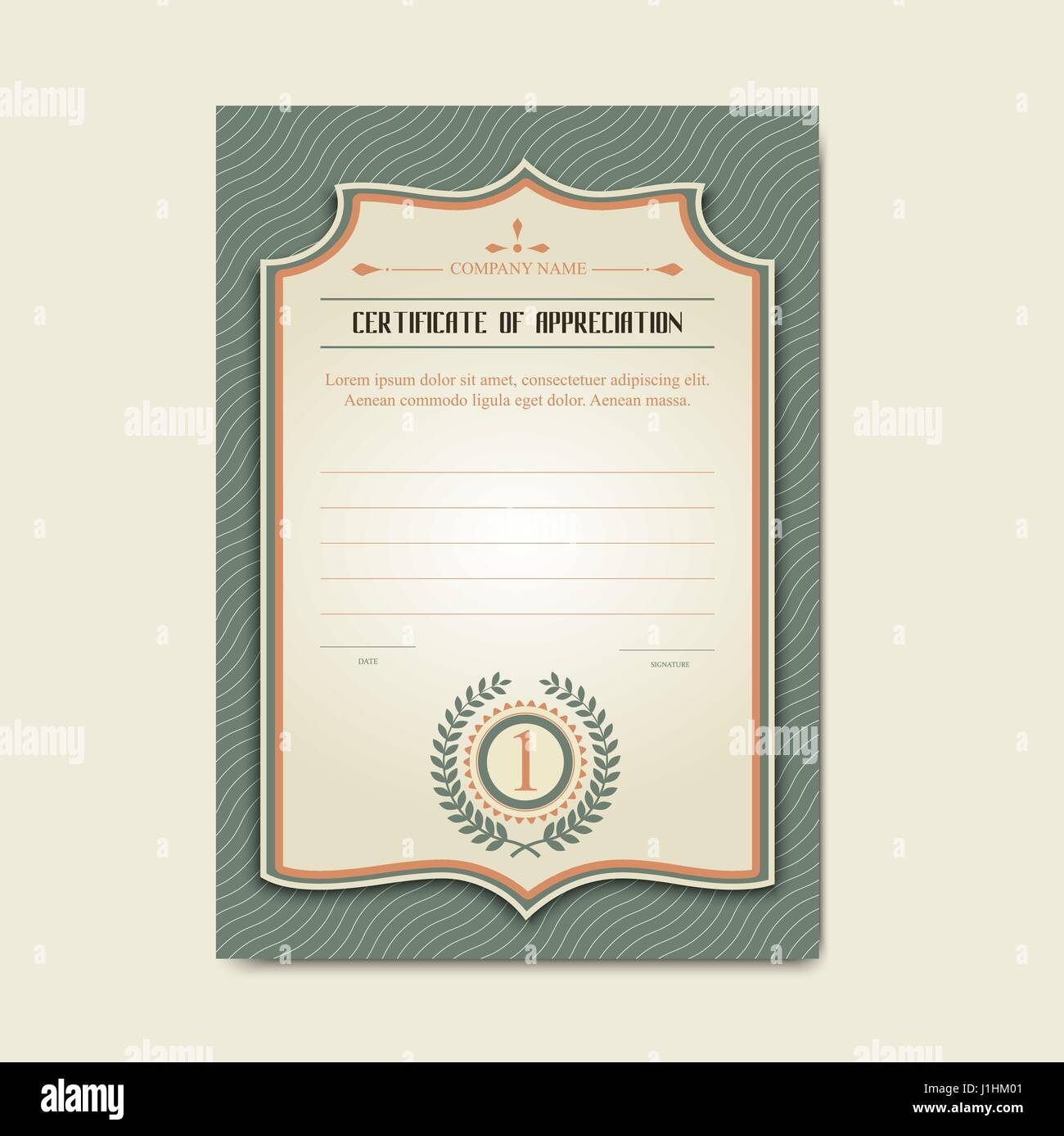 Vector Certificate Template Stock Vector Art Illustration Vector