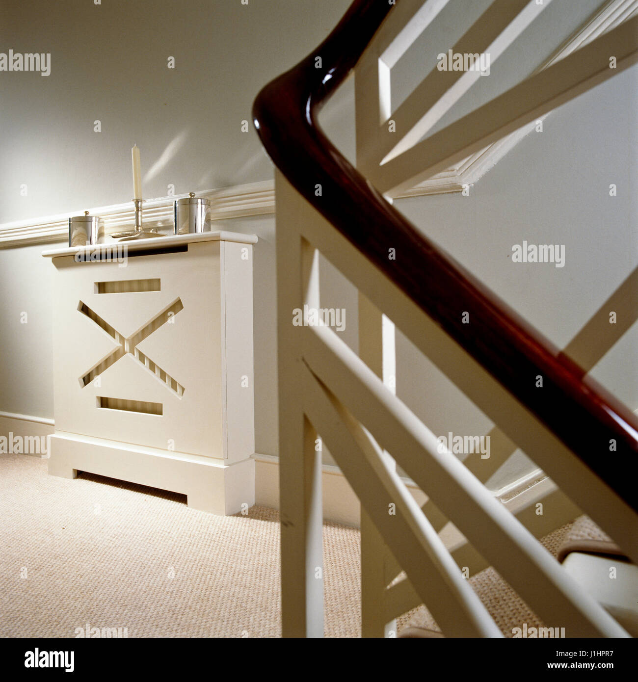 Staircase railing. - Stock Image