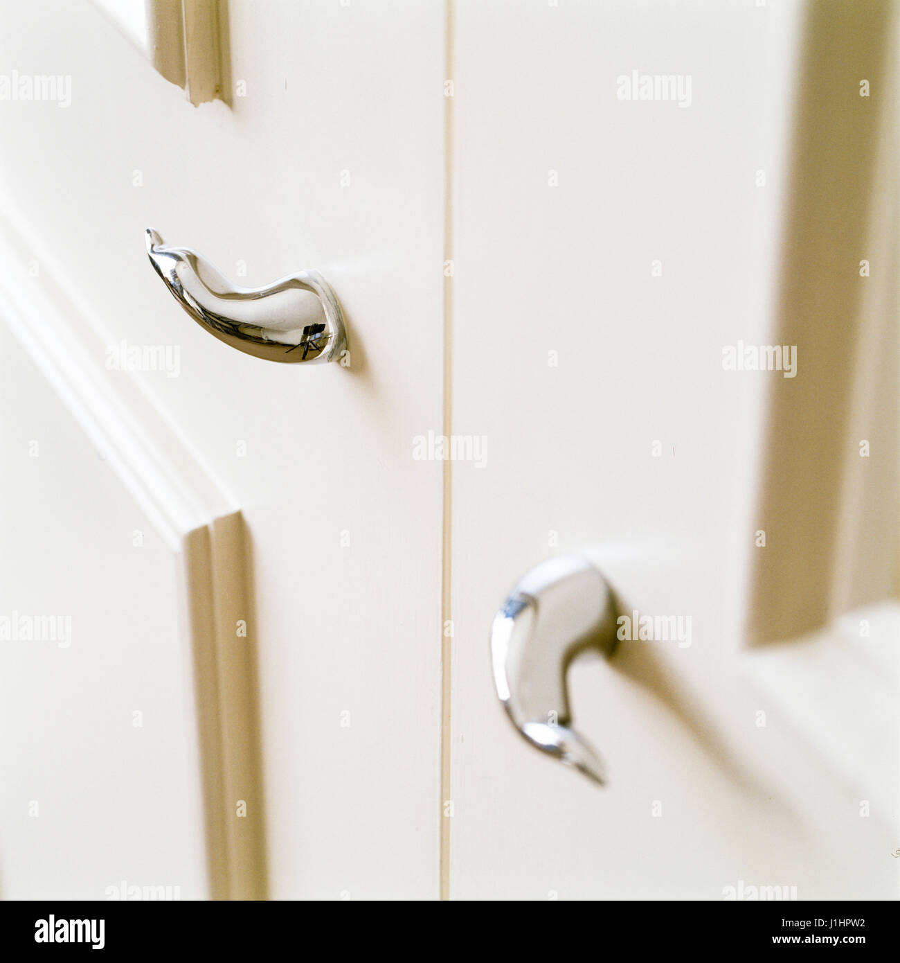 Contemporary door handle. - Stock Image
