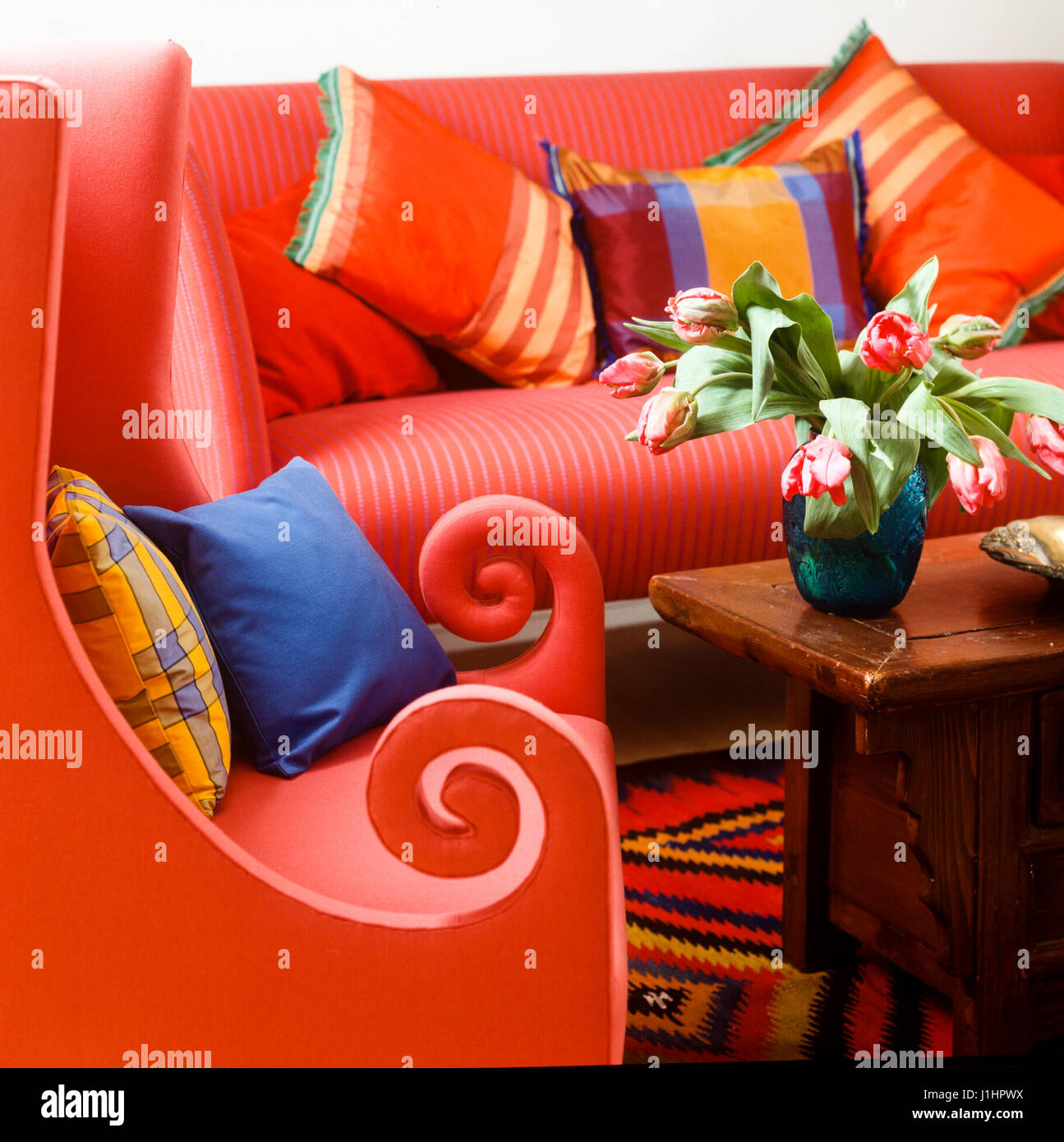 Vibrant furniture. - Stock Image